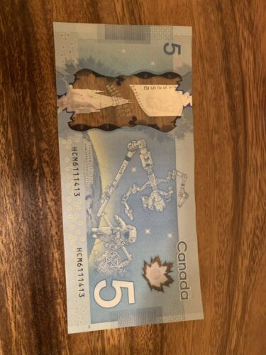 Used Condition Single Note Canadian Bank Note CANADA 5 DOLLARS Banknotes