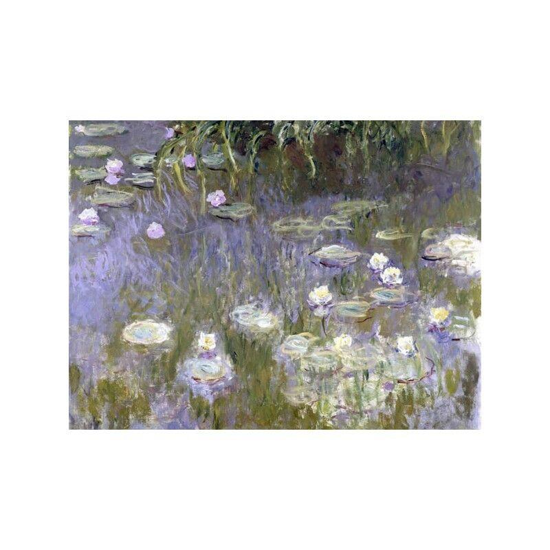 Quadro Lilies su Pannello in Legno MDF Claude Monet Water Lilies Quadro b35dc7