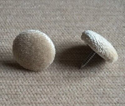 30L//17mm Nail Back Black Crushed Velvet Fabric Covered Upholstery Buttons