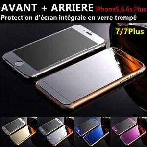 Vitre-protection-Film-Protecteur-ecran-Verre-Trempe-AVANT-ARRIERE-iPhone-4-5-6-7