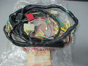 nos honda wire wiring harness 1973 1975 cb 750 cb750 32100 341 703 image is loading nos honda wire wiring harness 1973 1975 cb