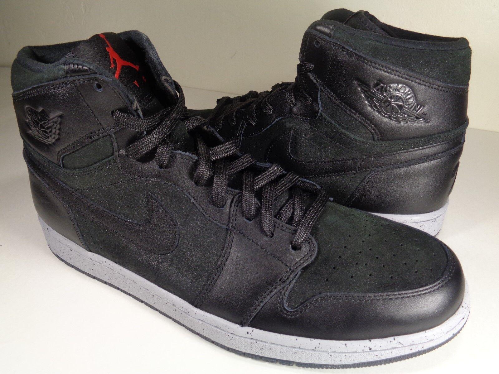 Nike air jordan 1 nero 'alto new york psny nero 1 lupo rosso grigio sz 11 (715060-002) ddd709