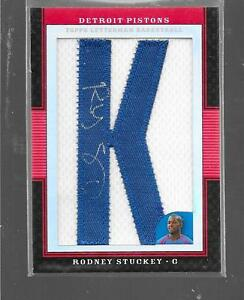 2008 Letterman - RODNEY STUCKEY - Red Refractor Autograph Patch - PISTONS #d6/15