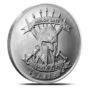 Molon-Labe-Come-and-Take-It-1oz-999-Fine-Silver-satin-finish-BU-Round