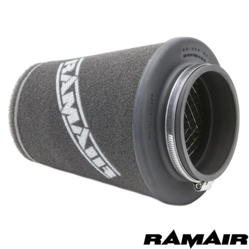 RAMAIR 90mm UNIVERSAL INDUCTION FOAM CONE AIR FILTER WITH REDUCING RINGS