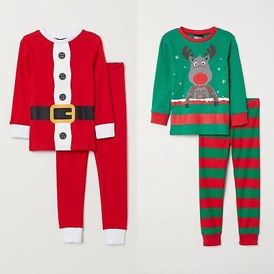 Baby-Strampler Nachtw/äsche f/ür Jungen und M/ädchen Merry Christmas kariert Weihnachtsfamilie Passendes Pyjama-Set f/ür Damen und Herren