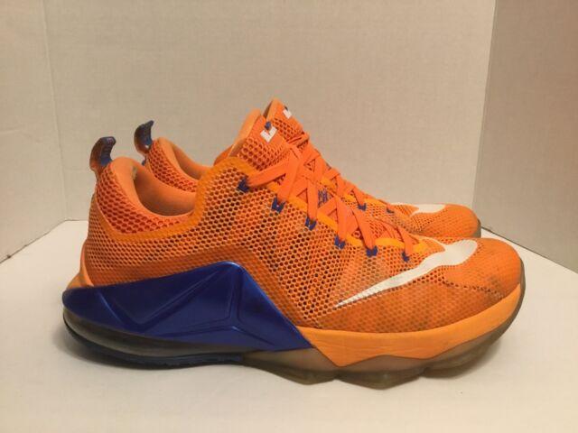 Nike Lebron XII 12 Low Men Sz 12.5 Basketball Shoes 724557 838 Bright Citrus