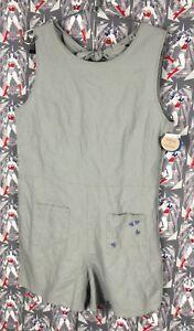 190d1979c52 NWT Junk Food Disney Women s Gray Romper Linen Cotton Blend Mickey ...