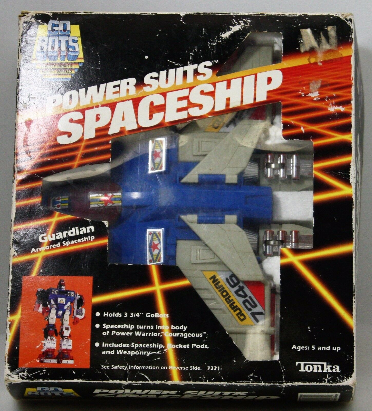 Go Bots Power Suits Spaceship GUARDIAN Tonka 1985 In Box