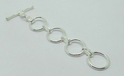 2 Pieces Toggle Clasp Hooks Extender Rings 11mm Round Bali Silver Beads Clasp