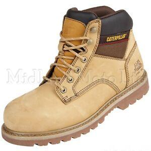 Caterpillar-Tracker-SB-Steel-Toe-Cap-Safety-Honey-Nubuck-Boots-CAT-Shoes-7002