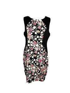 Portmans Womens Size 14 A -Line Midi Dress Floral Print Sleeveless