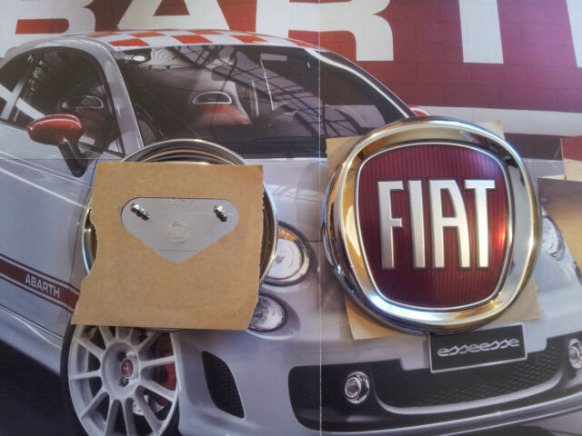 fregio stemma logo FIAT 500 POSTERIORE ORIGINALE DIAMETRO 95mm
