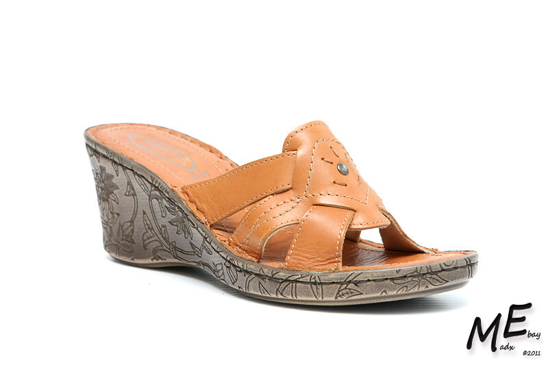 New Napa Flex Betty femmes Leather Sandals Taille 8 (MSRP  120) - marrons