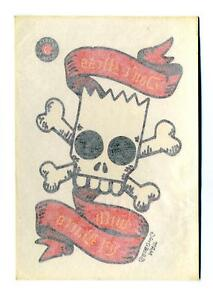 Topps-1993-The-Simpsons-Series-1-Tattoos-Chase-Card-6-Don-039-t-Mess-with-El-Barto