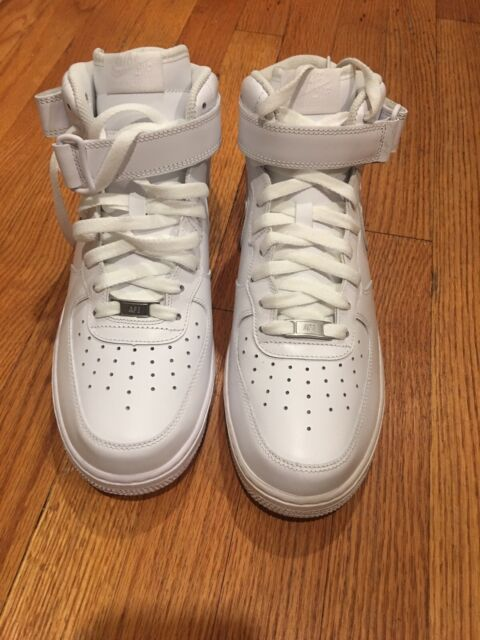 MENS NIKE AIR FORCE 1 MID 07 WHITE BASKETBALL CASUAL SHOES 315123 111 Size 10