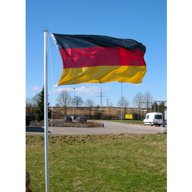 4tlg. 4tlg. 4tlg. Fahnenmast inkl. WM Deutschlandflagge Flaggenmast Alumast EM H6 20m 2da4dc