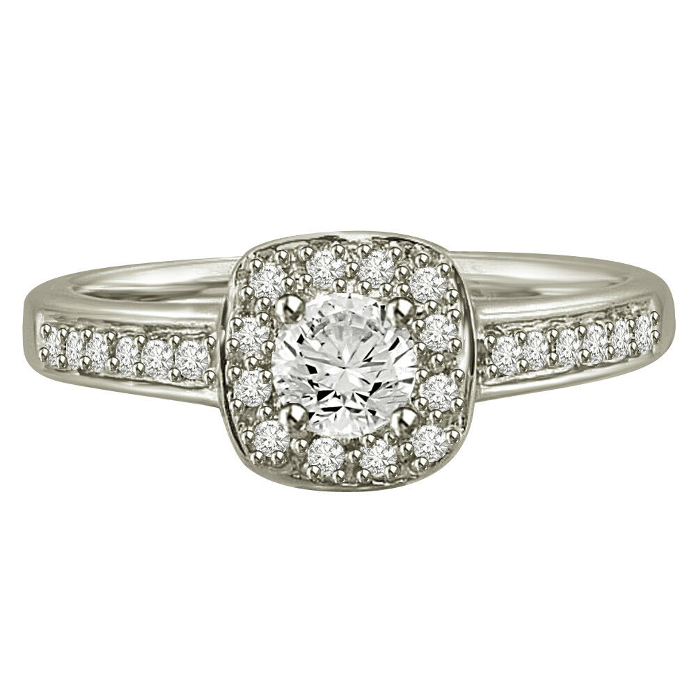88d13781ab07a Cert SDJ SI1 L 0.45TCW Real Diamond gold White 14kt in Ring Bridal ...