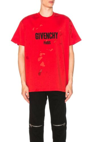 Givenchy Paris Destroyed Oversized T-Shirt
