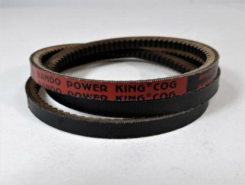 "0.50/"" Wide 0.31/"" Thick Bando Power King Cog AX Series Raw Edge Cogged V Belt"