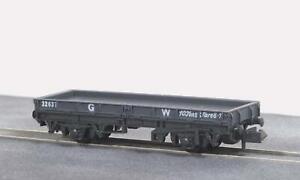 Peco-NR-5W-N-Gauge-GWR-Plate-Wagon
