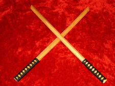 Set of 2 New Wooden Bokken Bleach Katana Samurai Practice Swords NT