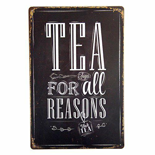 Tea for All Reasons Metal Tin Sign Decor Bar Pub Home Retro Poster Cafe Art