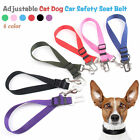 Pet Puppy Dog Car Vehicle Seat Belt Cat Safety Harness Restraint Lead Adjustable