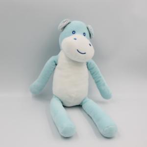 Doudou hippopotame bleu blanc TOM & KIDDY TOMKIDS - Hippopotame Classique