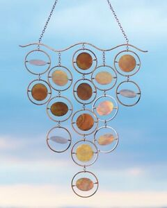 Image Is Loading Spinning Disc Tapestry Garden Art Metal Wind Chime