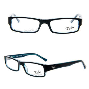 10f4476223 Ray Ban RB 5246 5092 Black on Turquoise size 50 16 135 Eyeglasses Rx ...