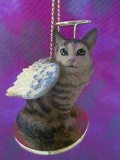 MAINE COON SILVER COON CAT  ~ ANGEL ORNAMENT  #DTA 16