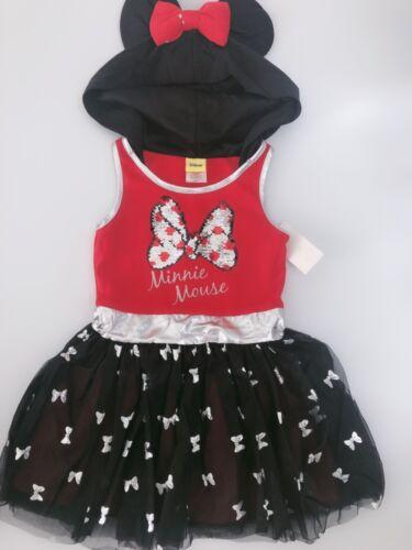 Girls Kids Children Tutu pettiskirt Petti Red Minnie Mouse Costume Vest Dress
