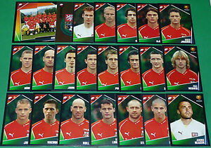 Panini Football Uefa Euro 2004 Portugal Equipe Complete Republique