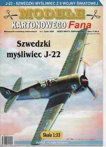 1:33 scale - Swedish fighter J-22 (1945) - Paper Card Model - Reda, Polska - Zwroty są przyjmowane - Reda, Polska