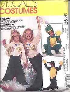 7852-UNCUT-McCalls-SEWING-Pattern-Halloween-Costume-Gator-Frog-Mermaid-FF-OOP