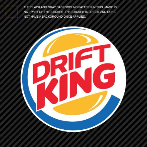 Drift King Sticker Die Cut Decal Self Adhesive Vinyl jdm