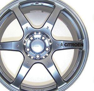 citroen alloy wheel stickers berlingo c4 c5 xsara picasso x 6 ebay. Black Bedroom Furniture Sets. Home Design Ideas