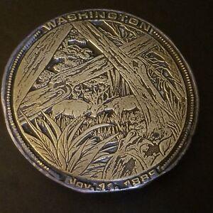 Vintage-Belt-Buckle-1974-Washington-State-Commemorative-Brass-Plated-120