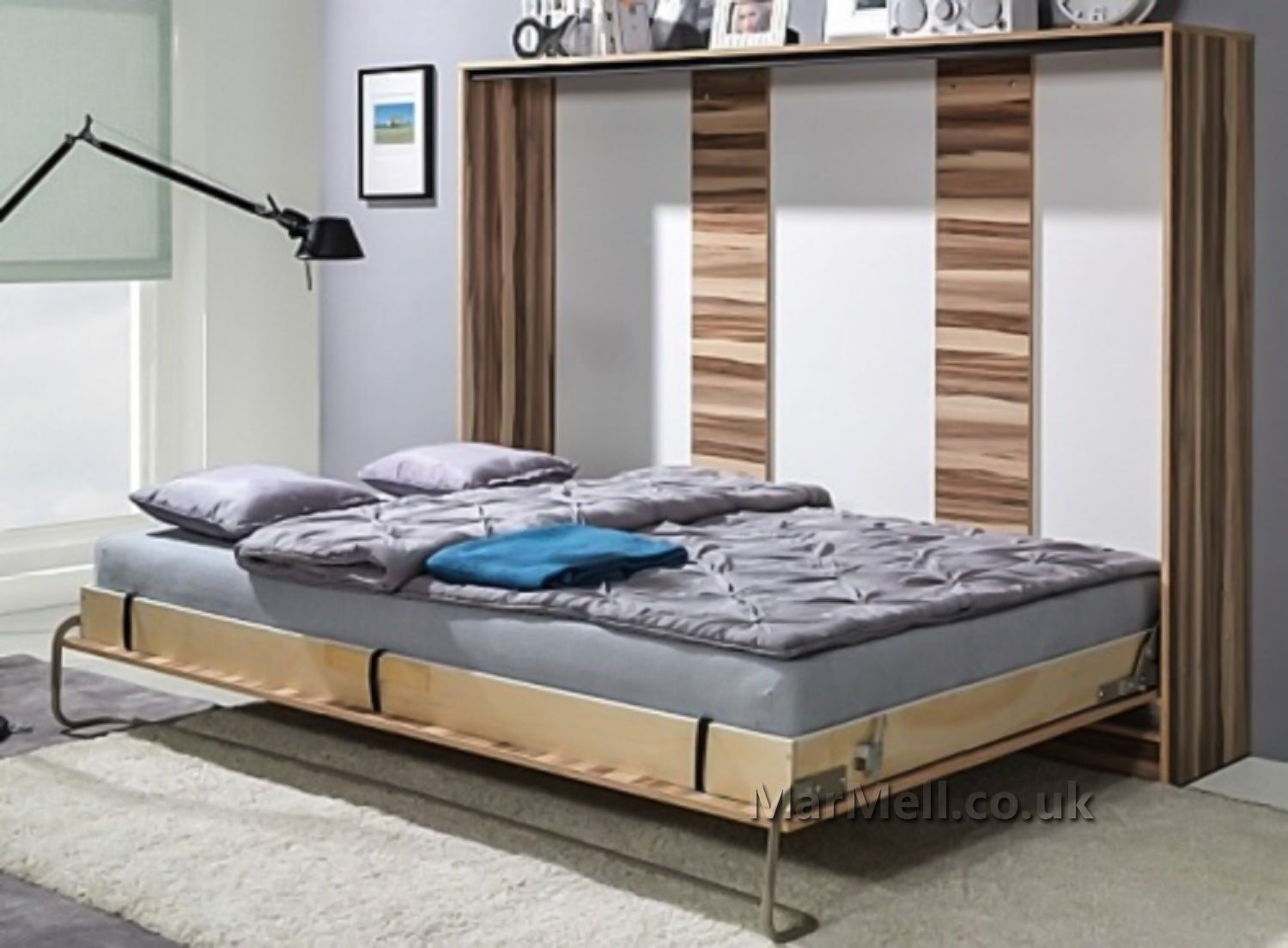 Murphy Bed 90cm Horizontal Smart Bed Multiple Colours Wall Bed Bed Cabinet For Sale Ebay