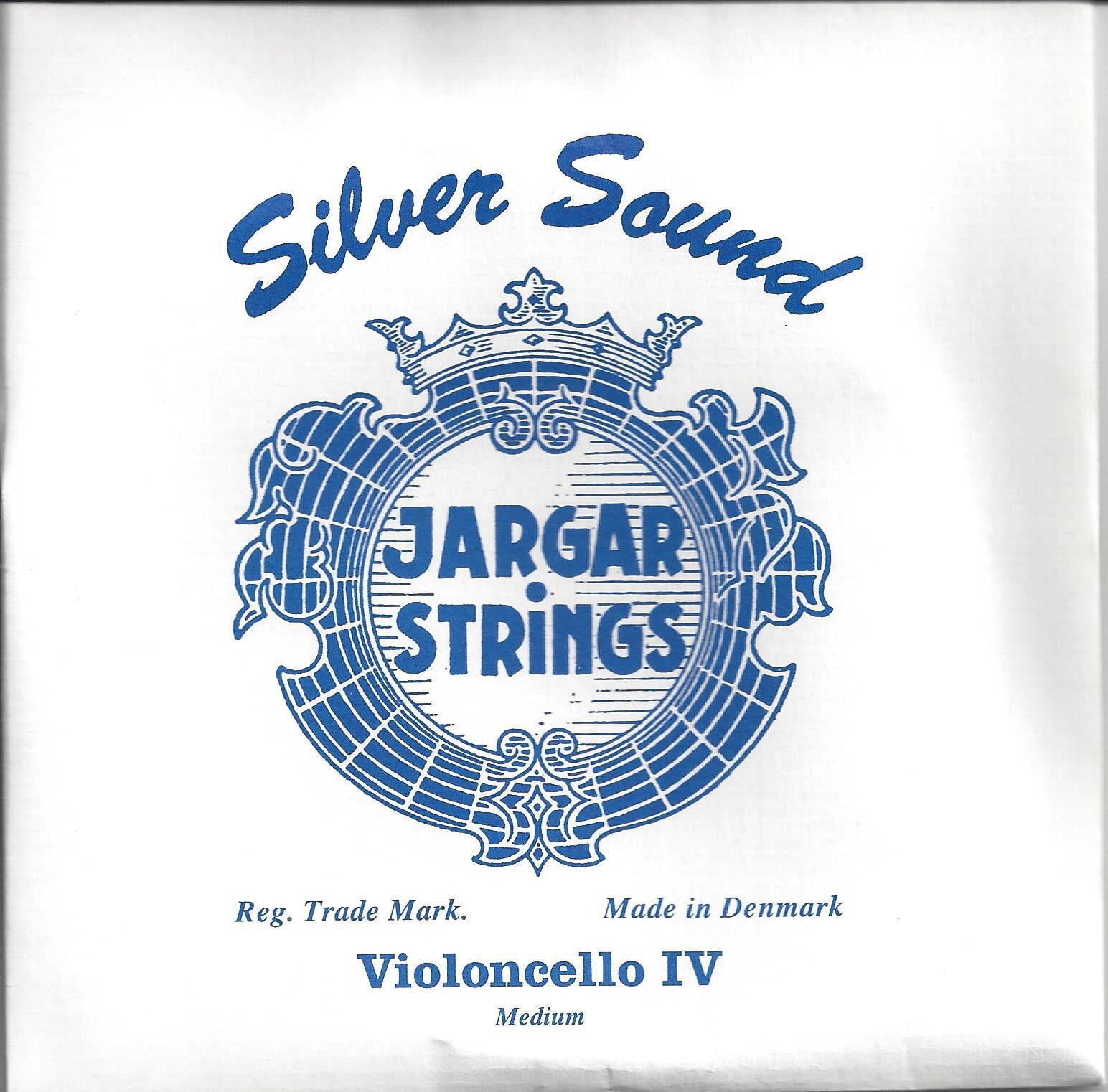 Jargar Cellosaite C 4 4 Silber umsponnen,  cello string