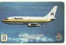 RARE / CARTE TELEPHONIQUE - AVION BOEING AIRLINERS MONARCH FLY / PAPER PHONECARD