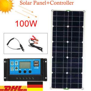Módulo solar panel solar solar celda monocrystalline energía fotovoltaica w/regulador 12v 100w