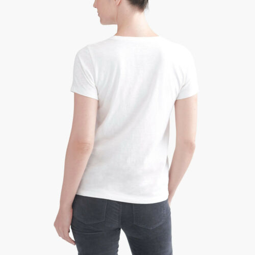 NWT Women J Crew Factory New York Winter Collector T-shirt Ivory Tee XS S M L XL