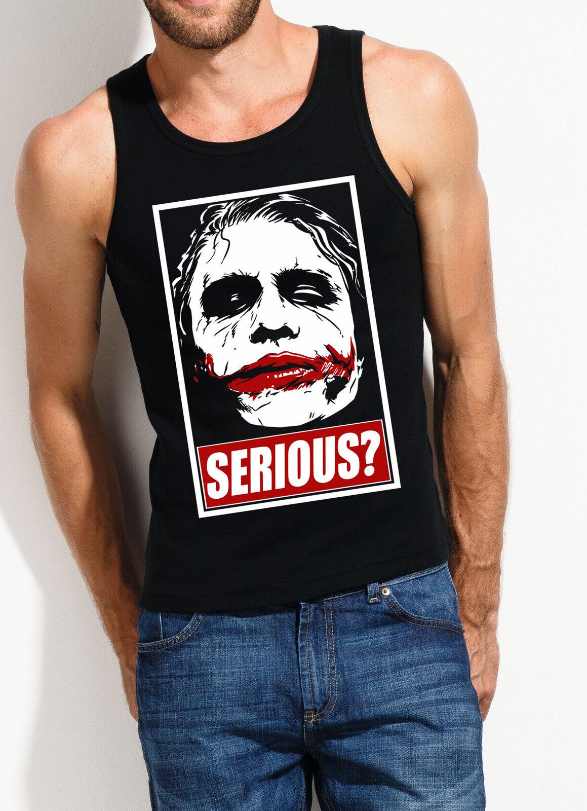 Serious Joker Muscle shirt Batman, Batman, Batman, grand livre, Dark Knight, prankster, psycho, smile 53d5e2