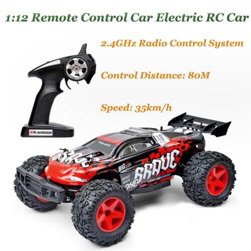 Kid Adult 1:12 Electric RC 35km//h Remote Control Car 2.4GHz Radio Control System