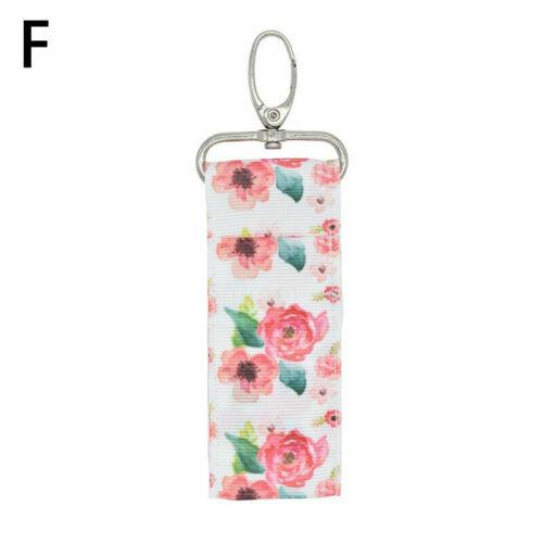 Fashion Storage Lipstick Holder Pouch Bag Key Ring Printing Keychain Gifts Girl