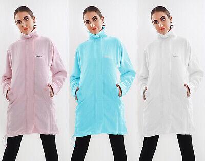 Women/'s Ladies Funnel Neck Fleece Bench expired Sweat Jacket Long Top S,M,L,XL