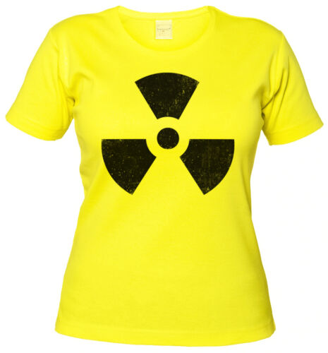 Big Nuclear Bang Strahlung Theory Girl RADIOACTIVE VINTAGE SYMBOL GIRLIE SHIRT