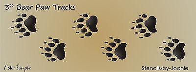 """3"""" Bear Track STENCIL Paw Print Border Cabin Lodge Rustic Signs U Paint Wall Art"""